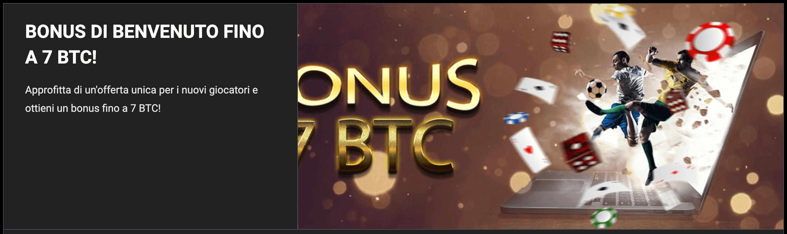 bitcoin scommesse sportive bonus senza deposito